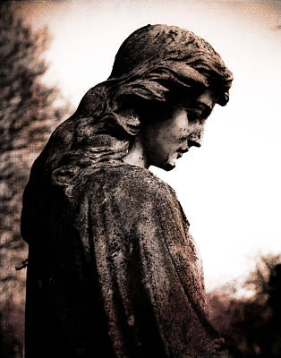 Cemetery Grief Art Print by Sonja Quintero