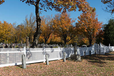 Photograph - Cemetery In East Harland Connecticut by Carol M Highsmith