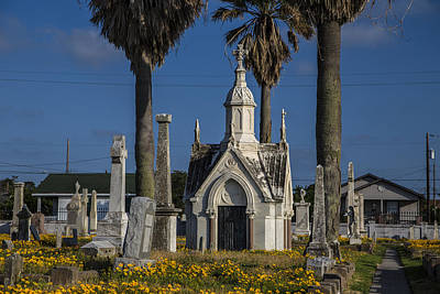Photograph - Cemetery In Galveston Tx During The Day by John McGraw