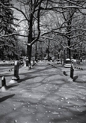 Cemetery In Winter  Art Print