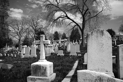 Headstone Photograph - Cemetery Solitude by Jennifer Ancker
