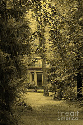 Photograph - Cemetery Stahnsdorf Berlin Sepia by Art Photography