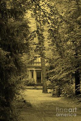Photograph - Cemetery Stahnsdorf Berlin Sepia by Art Photography