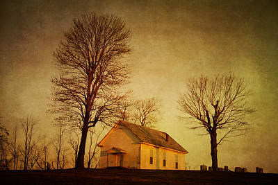 Photograph - Cemetery Sunrise by David Morel