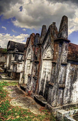 Cemetery Tomb New Orleans Art Print by Timothy Lowry