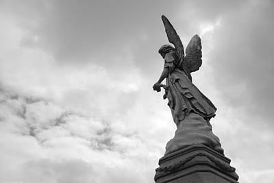Seraph Photograph - Cemetery Watcher by Jennifer Ancker