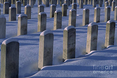 Photograph - Cemetery With Snow by Jim Corwin