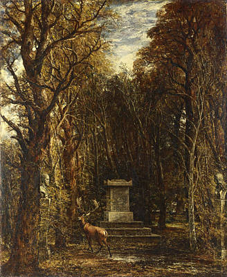 Cenotaph To The Memory Of Sir Joshua Reynolds Print by John Constable