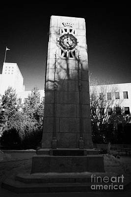 cenotaph war memorial in Saskatoon city hall Saskatchewan Canada Art Print by Joe Fox