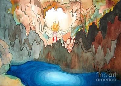 Cenote Art Print by Maya Simonson