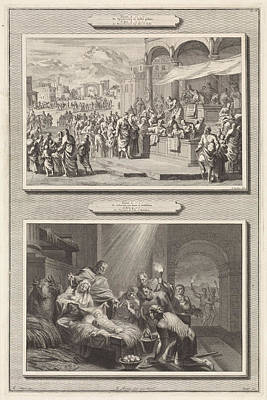 Census At Bethlehem And The Adoration Of The Shepherds Art Print