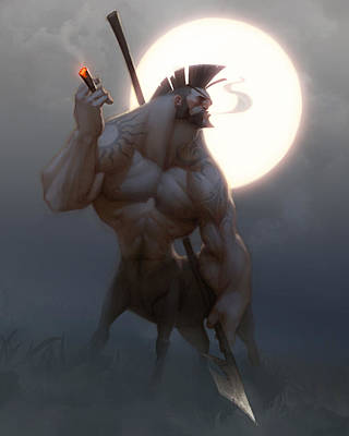 Barbarian Painting - Centaur by Adam Ford