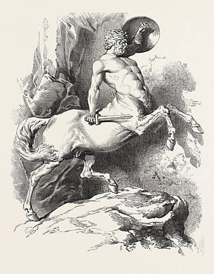 Centaur Drawing - Centaur by D'orsay, Count Alfred (1801-52), French