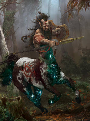 Wall Art - Digital Art - Centaur Token by Ryan Barger