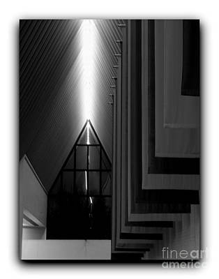 Photograph - Center For The Arts Border Bw by Jacqueline M Lewis