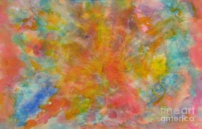 Painting - Center Glow by Laura Hamill