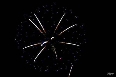 Photograph - Center Lily Firework by Teresa Blanton