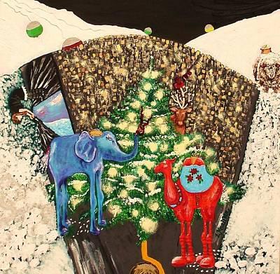 Center Of Snow Globe Original by Lisa Kramer
