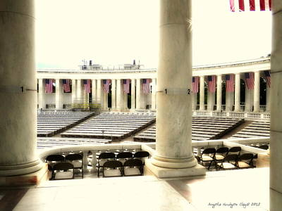Lincoln Memorial Digital Art - Center Stage At Arlington by Angelia Hodges Clay