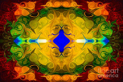 Digital Art - Centered In Peace Abstract Pattern Artwork By Omaste Witkowski by Omaste Witkowski