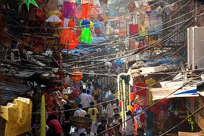 Bazaar Photograph - Central Bazaar District, Mumbai, India by Peter Adams