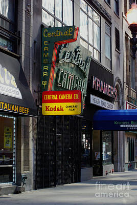 Frank J Casella Royalty-Free and Rights-Managed Images - Central Camera Chicago by Frank J Casella
