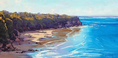 Entrance Wall Art - Painting - Central Coast Headland by Graham Gercken