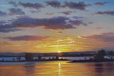 The Entrance Painting - Central Coast Sunset by Graham Gercken