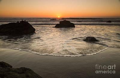 Celebrity Watercolors - Central Coast Sunset by Jose M Beltran