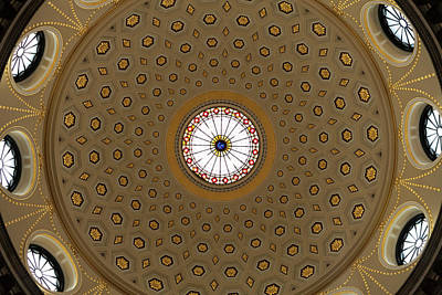 Historic Buildings Images Photograph - Central Dome, The City Hall, Opened by Panoramic Images