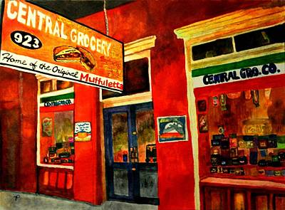 Italian Kitchen Painting - Central Grocery by Jill Jacobs