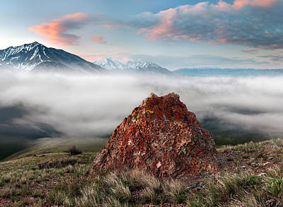 Lost River Mountains Photograph - Central Idaho Mountain Morning by Leland D Howard