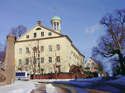 Photograph - Central Moravian Church In Bethlehem Pa by Jacqueline M Lewis