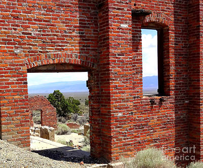 Photograph - Central Nevada Windows by Donna Spadola