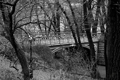 Photograph - Central Park 2 Black And White by Chris Thomas
