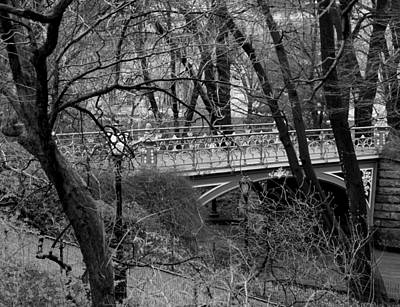 Photograph - Central Park 2.1 Black And White by Chris Thomas