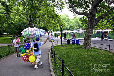 Central Park Balloon Man Art Print by Madeline Ellis