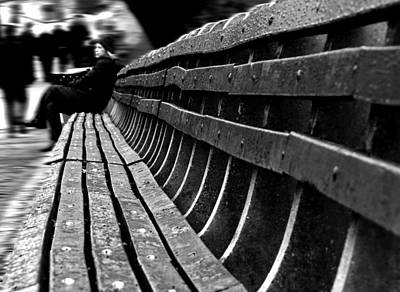 Central Park Photograph - Central Park Bench by Sara Trilla