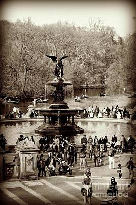 Photograph - Central Park - Bethesda Fountain - Antique Appeal by Miriam Danar