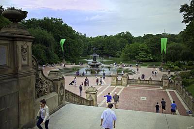 Bethesda Fountain Photograph - Central Park - Bethesda Fountain by Madeline Ellis