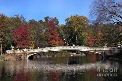 Photograph - Central Park Bow Bridge by Steven Spak
