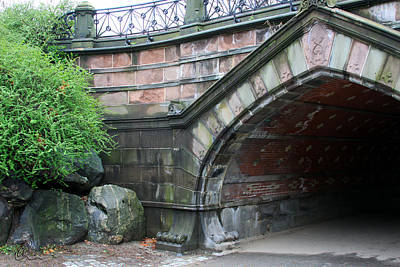 Photograph - Central Park Bridge by Chris Thomas