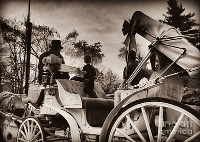 Photograph - Central Park Carriage Ride - Antique Appeal by Miriam Danar