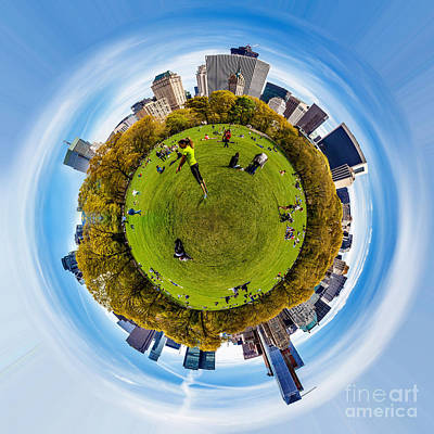 Apple Photograph - Central Park Circagraph  by Az Jackson