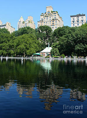 Photograph - Central Park Conservatory Water by Gregory Dyer