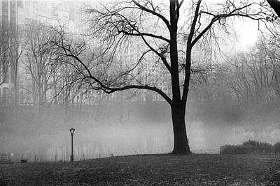Art Print featuring the photograph Central Park Fog by Dave Beckerman