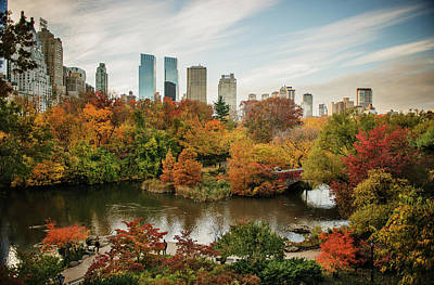 Photograph - Central Park In The Fall With by Michael Marquand