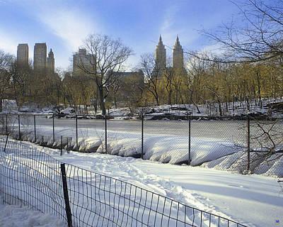 Central Park In Winter 2 Art Print by Muriel Levison Goodwin