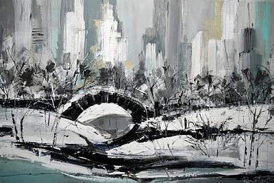Nyc Painting - Central Park by Irina Rumyantseva