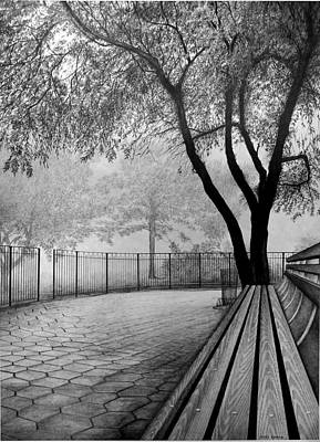 Cityscape.pencil Drawing - Central Park by Jerry Winick